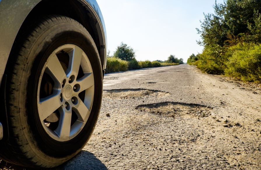 Falta de mantenimiento en las carreteras