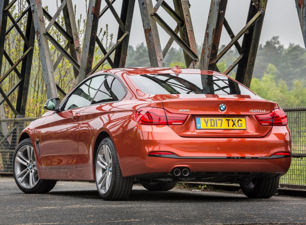 BMW Serie 4 Coupe: trasera