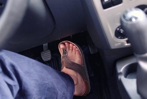 Chanclas para conducir