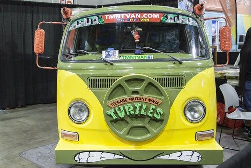 Furgoneta de las tortugas ninja