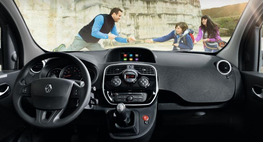Interior de la Renault Kangoo.