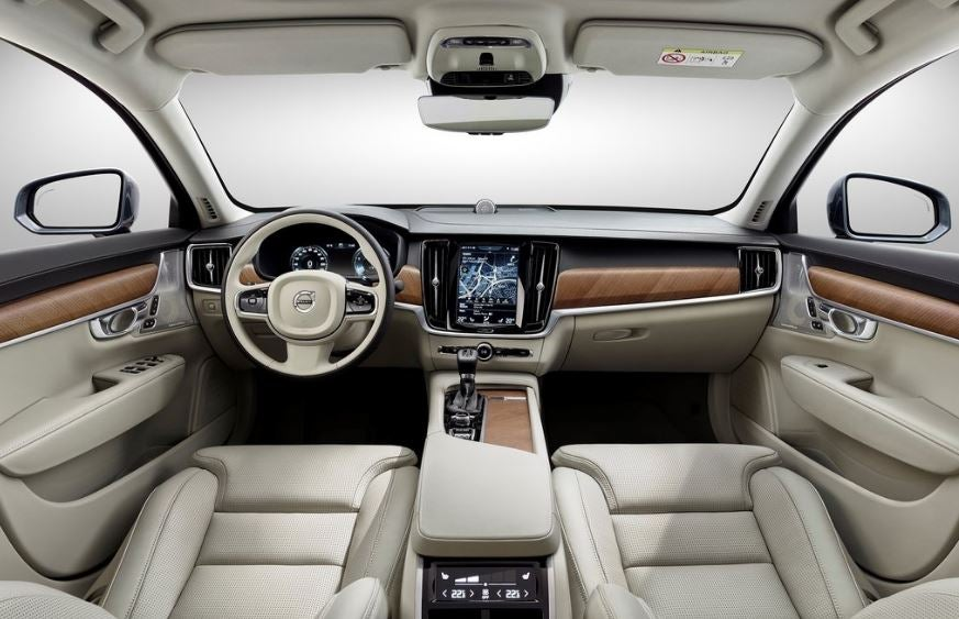 Interior del Volvo S90.