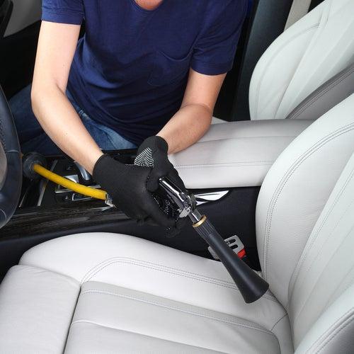 Limpiar coche con aire a presión
