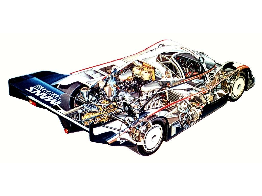 Porsche 956 C: chasis