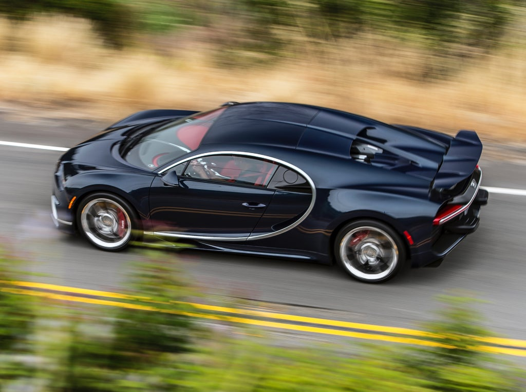 Bugatti Chiron: lateral