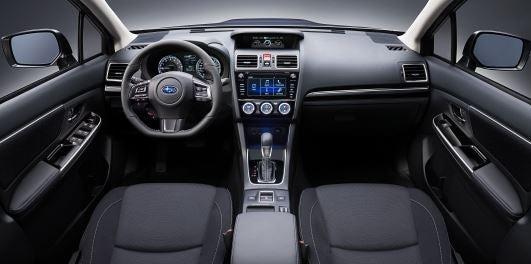 Interior del nuevo Subaru Levorg.