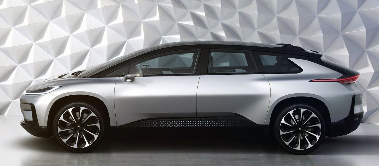 Diseño del Faraday Future FF91.