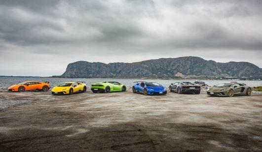 Gama actual de Lamborghini.