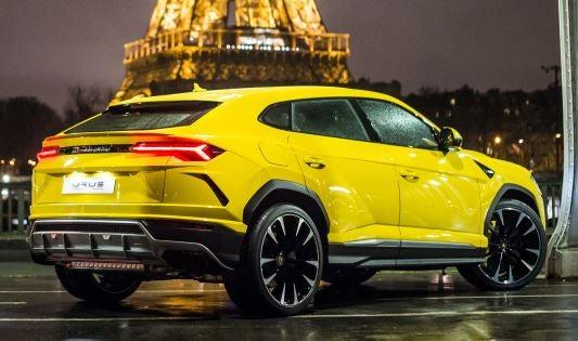 Imagen exterior del Lamborghini Urus.