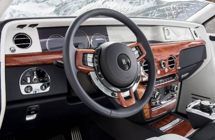 Interior del Rolls-Royce Ghost.