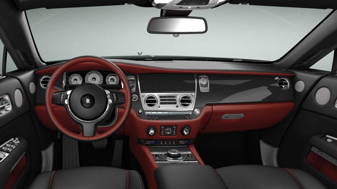 Interior del Rolls-Royce Wraith.
