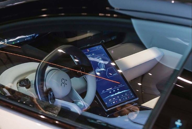 Interior del Faraday Future FF91.