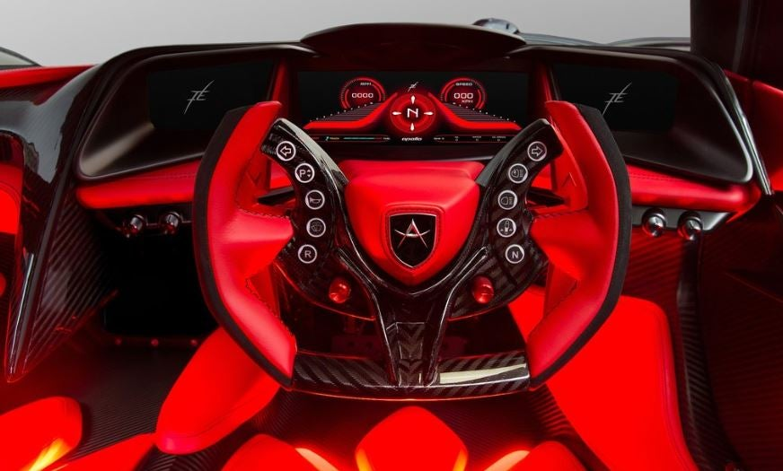 Interior del Gumpert Apollo.