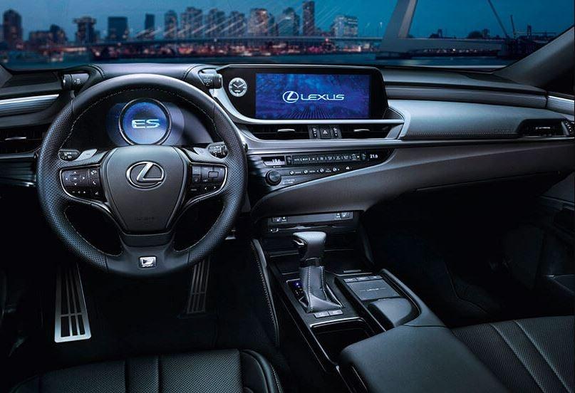 Interior del Lexus ES 300h.