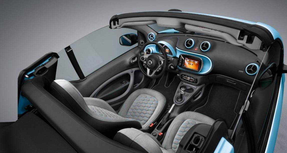 Interior del Smart Fortwo Cabrio.