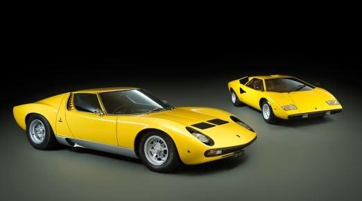 Lamborghini Miura y Countach.