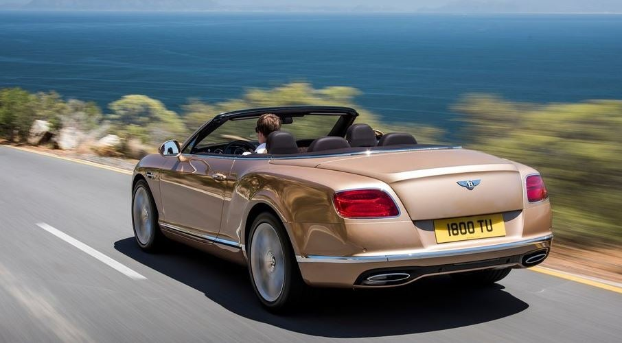 Diseño del Bentley Continental GT convertible.