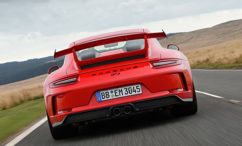Diseño exterior del Porsche 911 GT3.