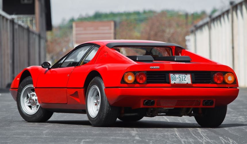Diseño del Ferrari Berlinetta Bóxer.
