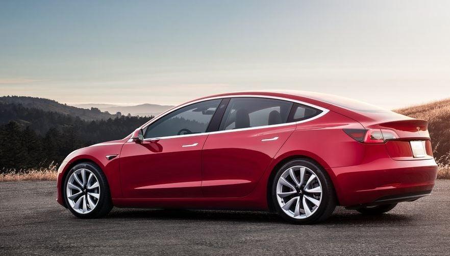 Diseño del Tesla Model 3.