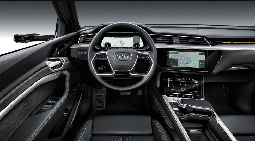 Interior del Audi e-tron.
