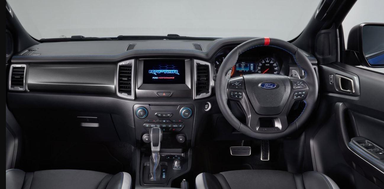 Interior del Ford Ranger Raptor.