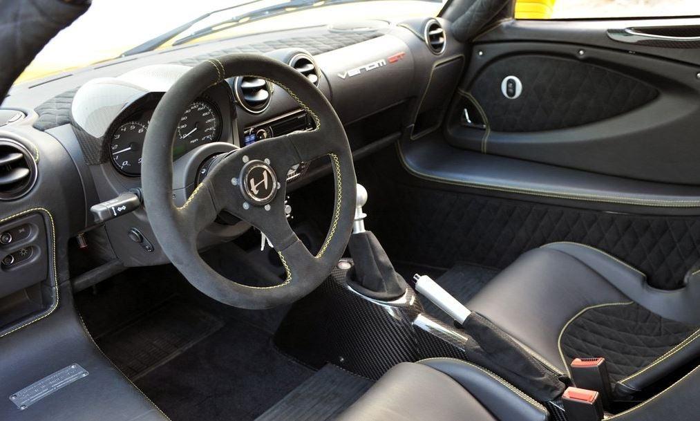 Interior del Hennessy Venom GT.