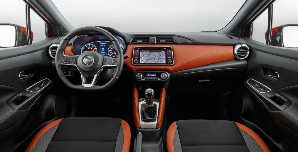 Interior del Nissan Micra 2018.