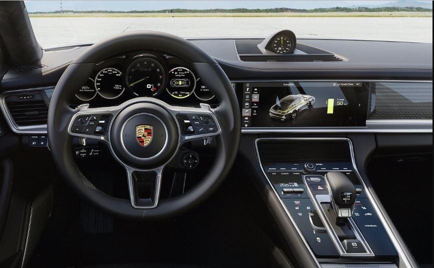 Interior del Porsche Panamera Turbo.