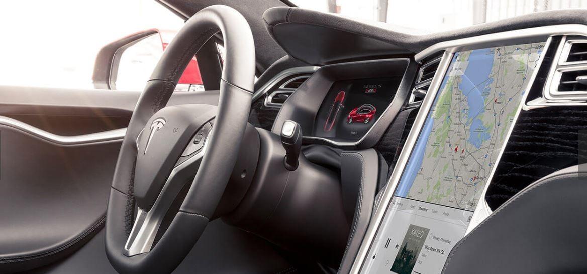 Interior Tesla Model S.