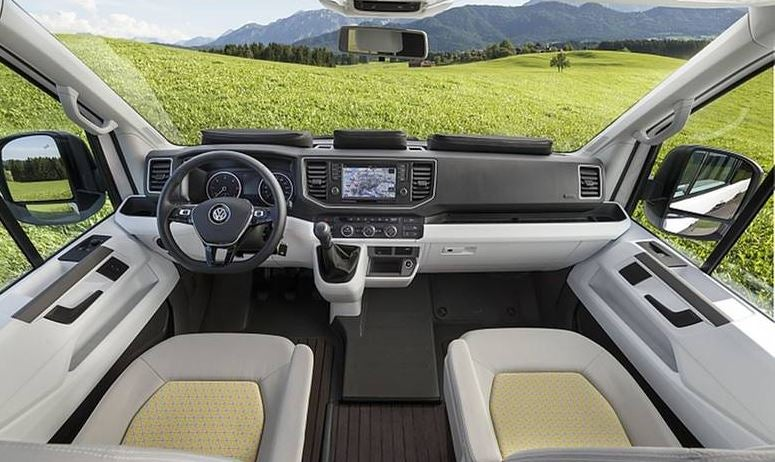 Interior de la Volkswagen Grand California.