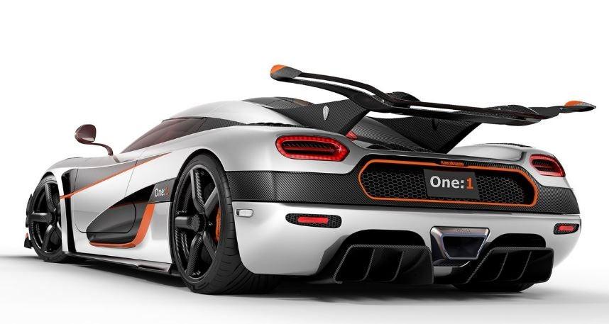 Diseño del Koenigsegg One.