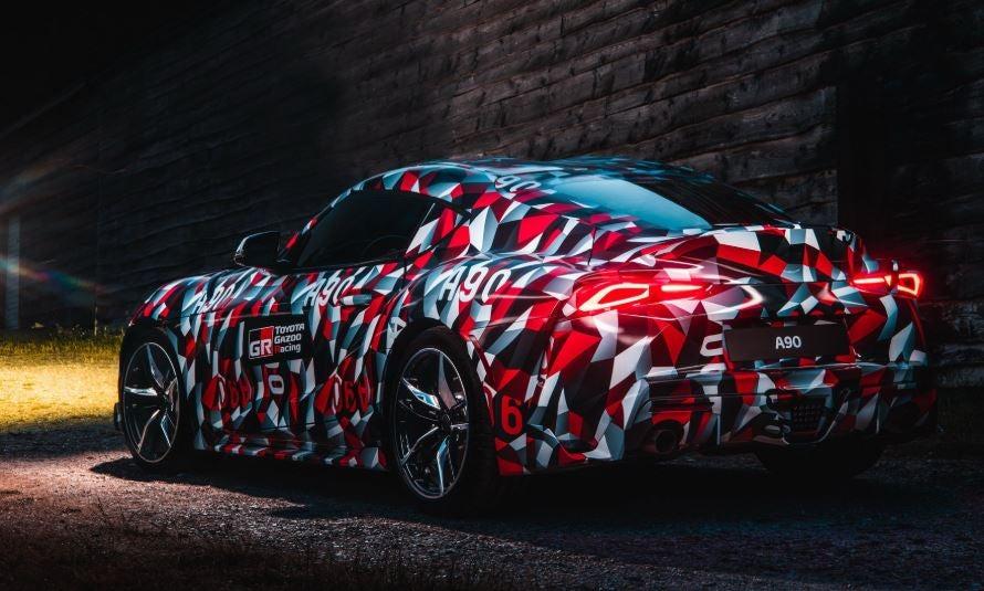 Diseño del nuevo Toyota Supra.