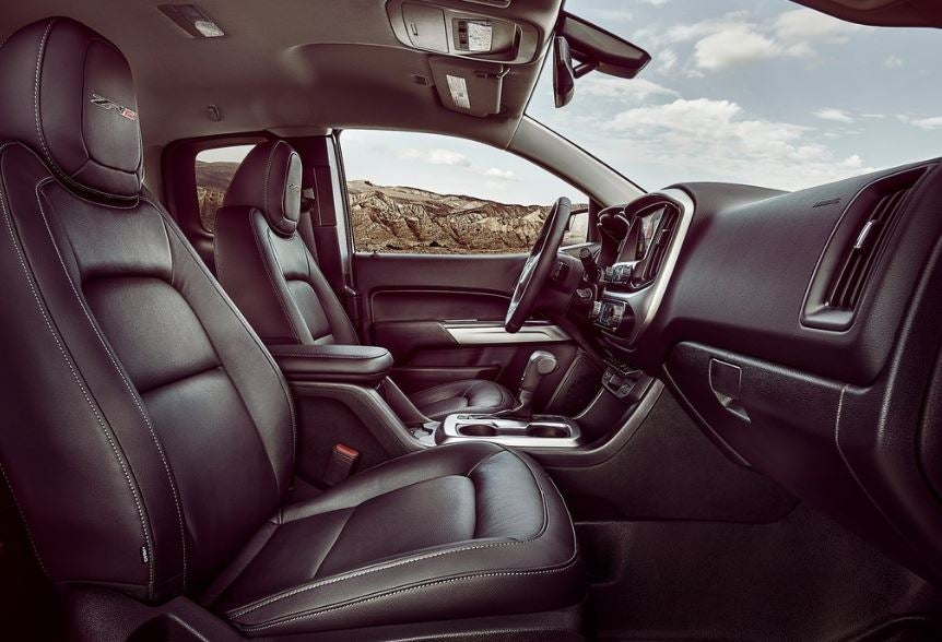 Interior del Chevrolet Colorado.