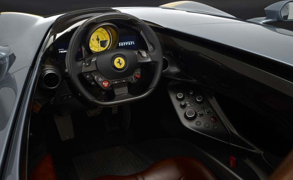 Interior del Ferrari Monza SP 1.