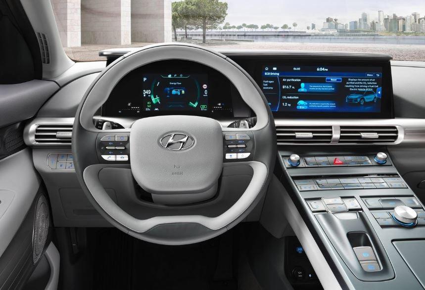 Interior del Hyundai Nexo 2018.