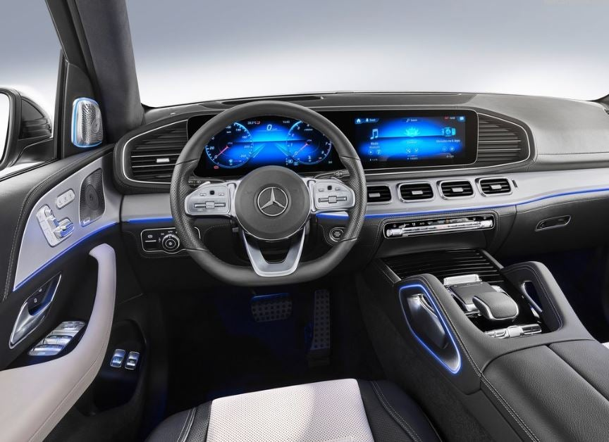 Interior del Mercedes GLE 2019.