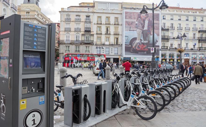 Bicicletas en Madrid.