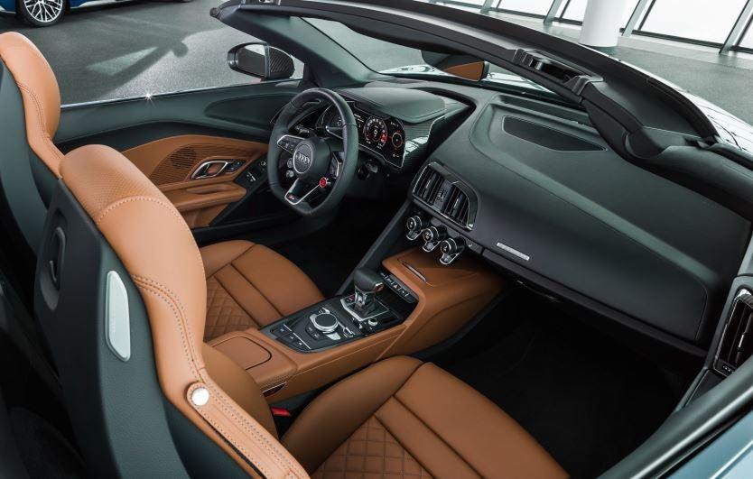 Interior del Audi R8 2019.