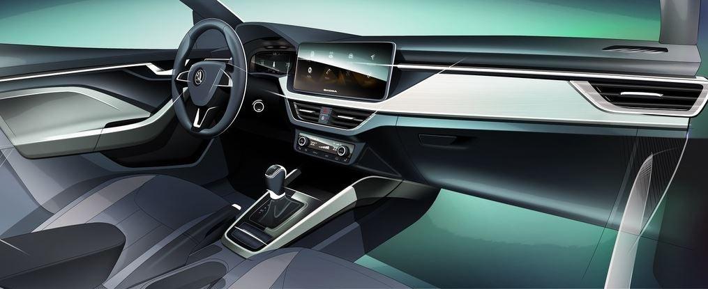 Interior del Skoda Vision RS.
