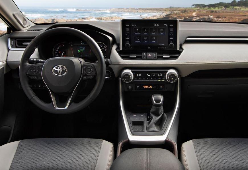 Interior del Toyota RAV4 2019.