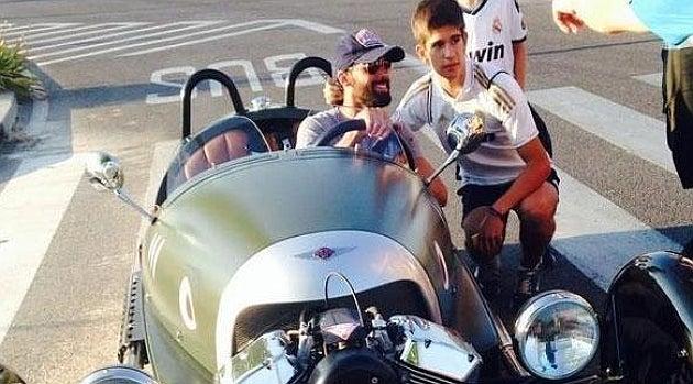 El coche de Alvaro Arbeloa