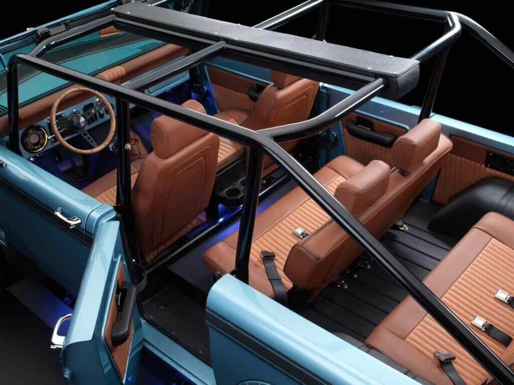 interior ford bronco restomod
