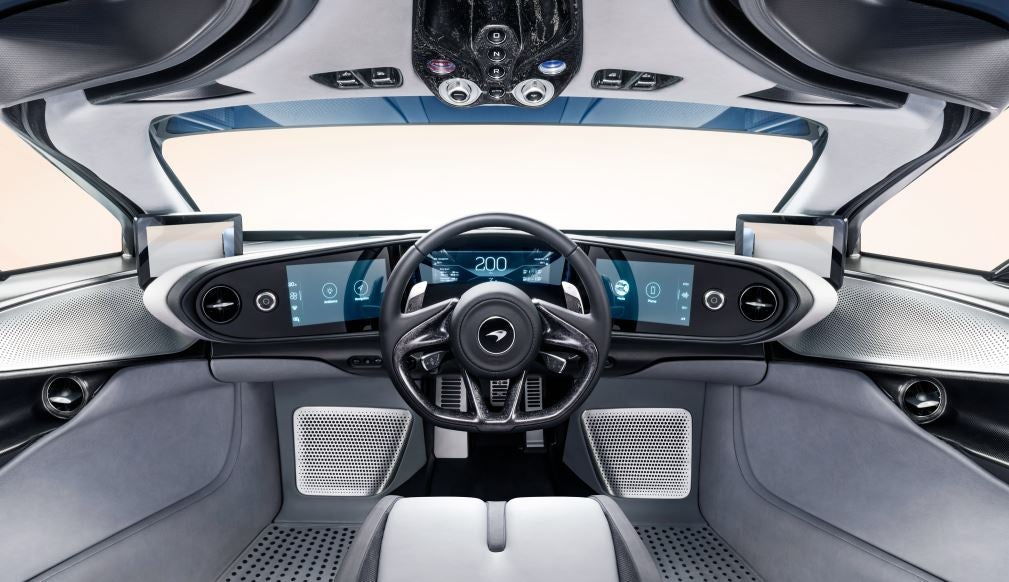 Interior del McLaren Speedtail.