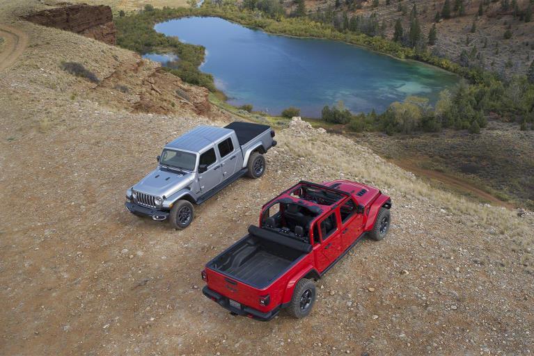 Jeep Gladiator 2020: vista aérea