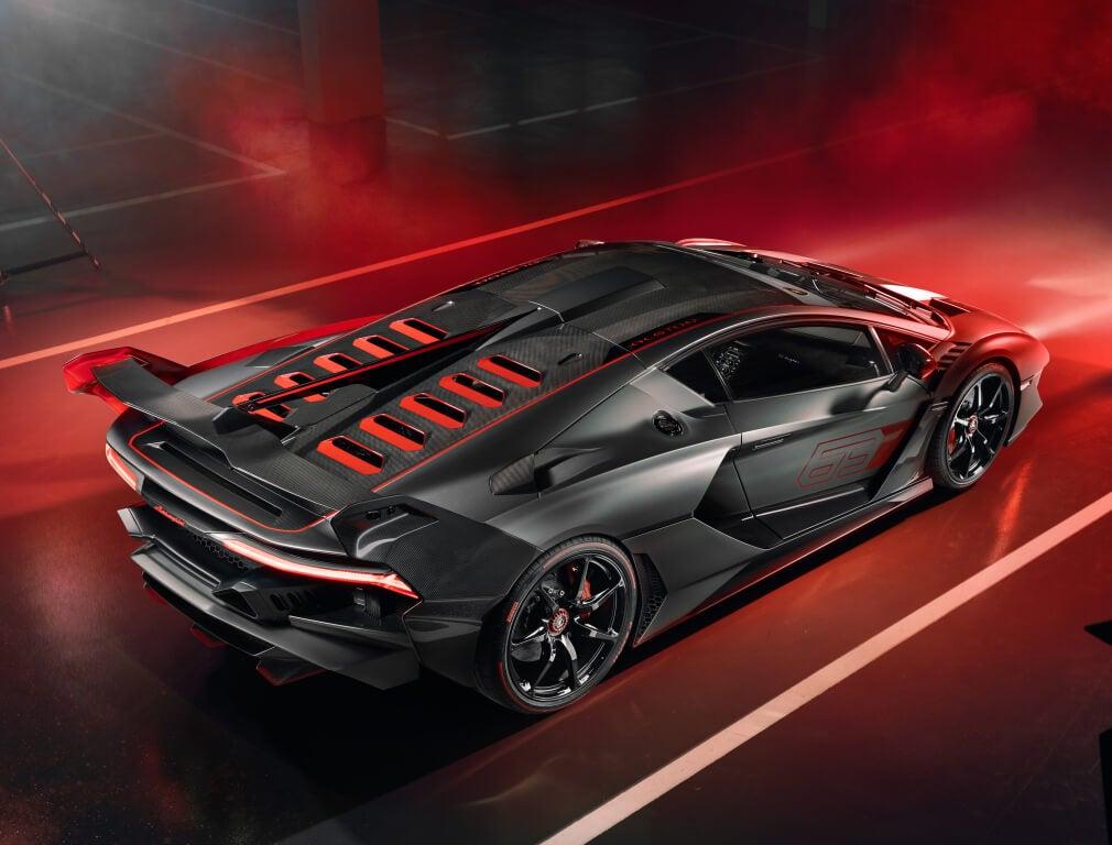 Parte trasera Lamborghini Sc18 año 2018