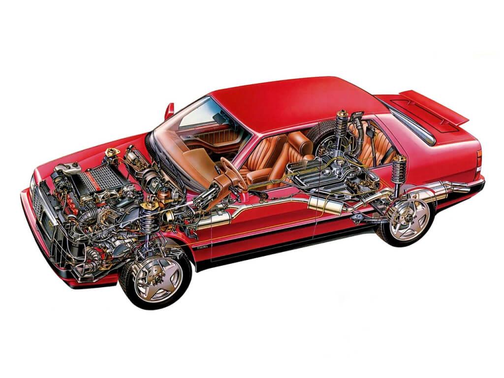 Lancia Thema 8.32: técnica