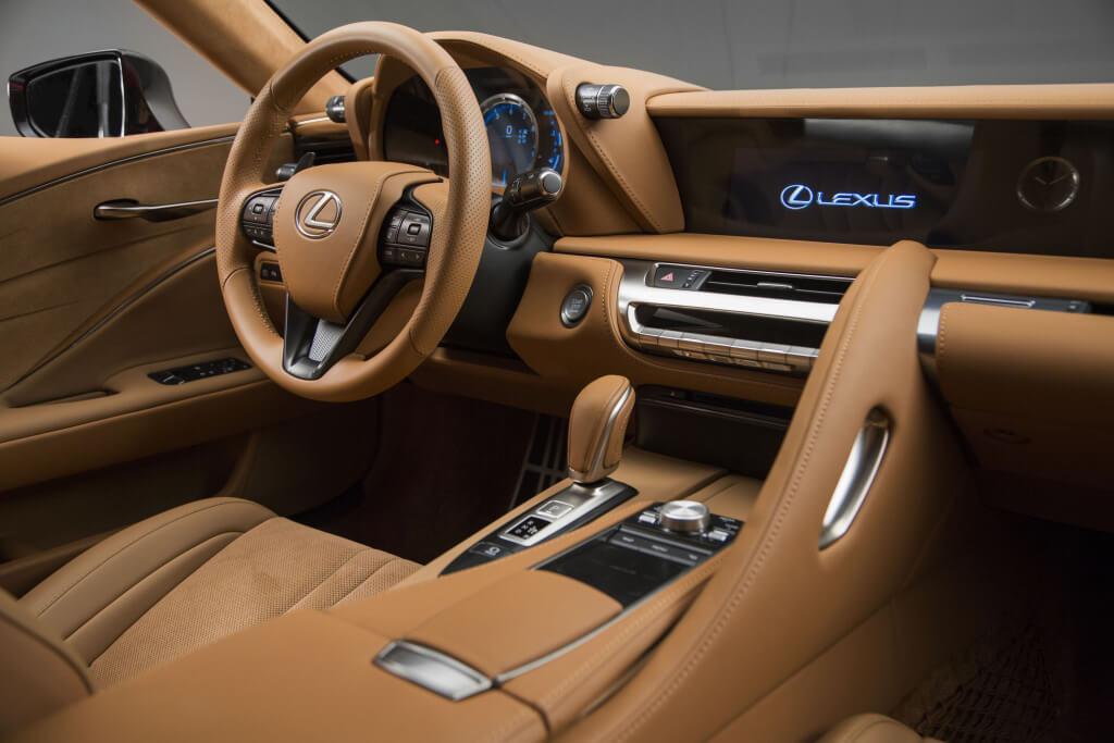 interior del lexus lc 500