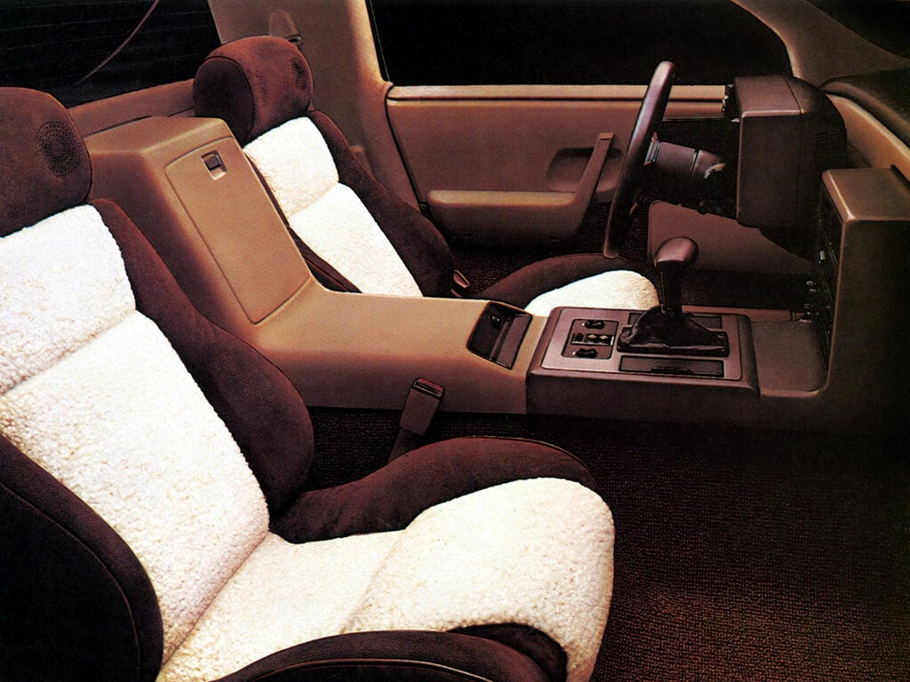 detalle de los asientos del Pontiac Fiero