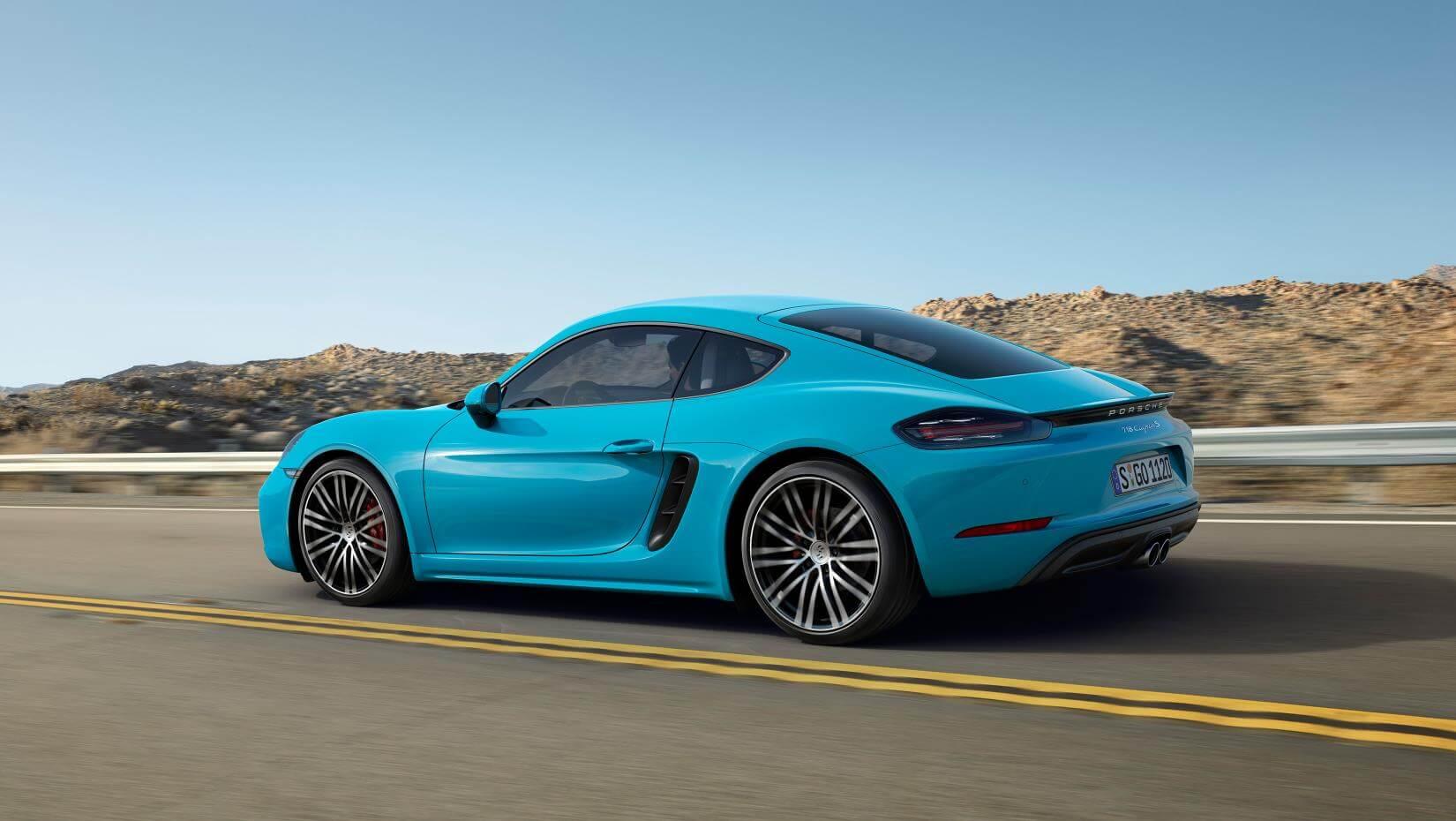 Porsche 718 Cayman: trasera